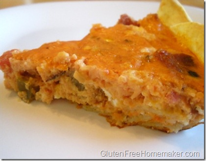 tortilla crust quiche slice