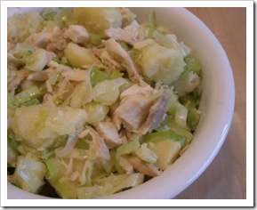 warm chicken & potato salad
