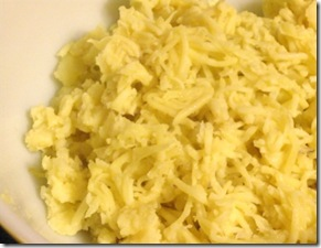 gold potatoes grated