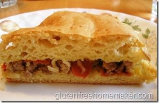 focaccia sandwich slice