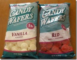 candy coated pretzels - wafers