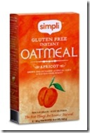 Simpli apricot oatmeal