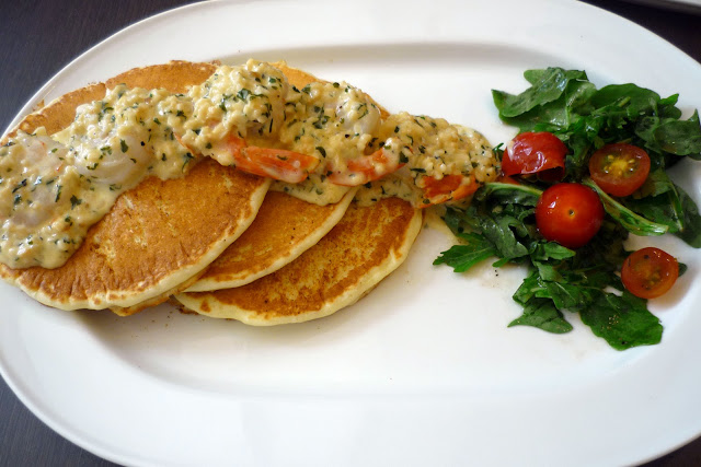 Garlic Buttered Prawns Pancakes