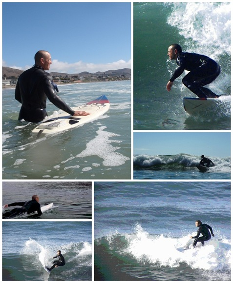 Surfer collage