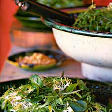 Frisée,watercress, and Mint Salad