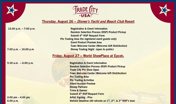 global disney pinvestigation trade city usa pin event itinerary