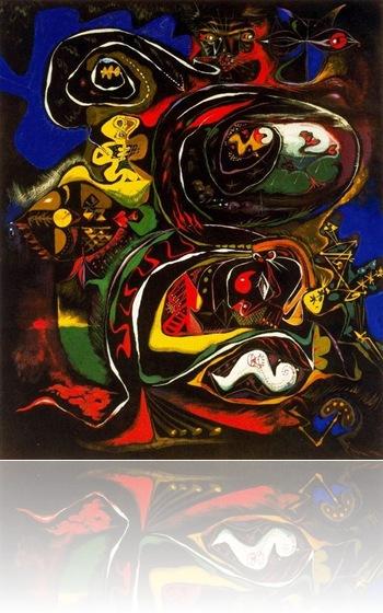 Meditación sobre una hoja de roble_ surrealismo abstracto
