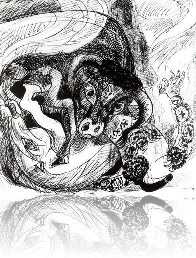 Tauromachie_ expresionismo_ bocetos y dibujos
