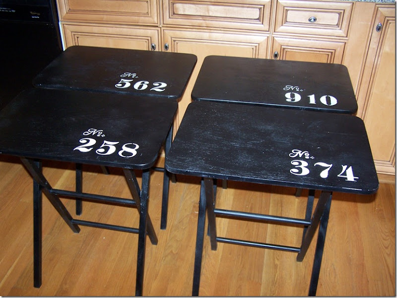 TV Tray Tables with Numbers 005