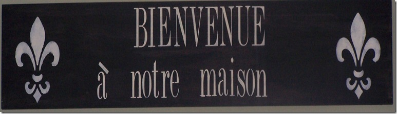 Bienvenue Sign 013