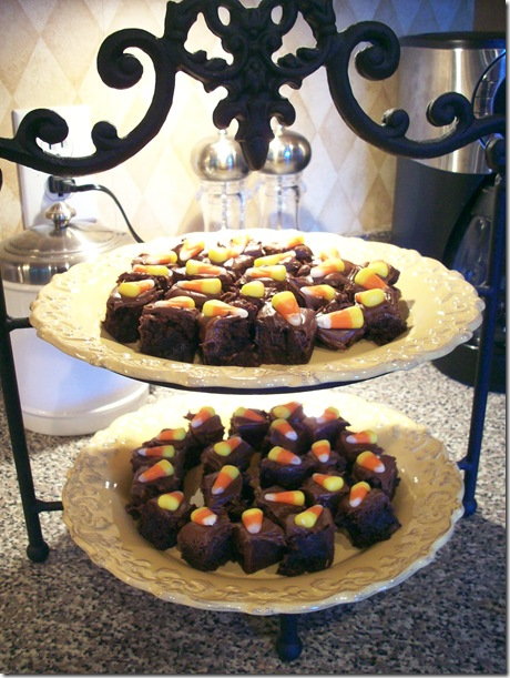 Candy Corn Brownies 019