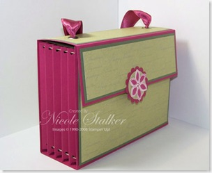 Accordian Card Box side