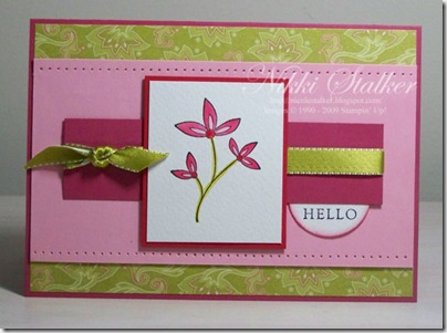 August Card 1 Sweet Stems 1