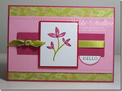 August Card 1 Sweet Stems 1