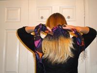 tie behind neck
