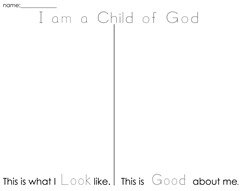 I am a Child of God worksheet