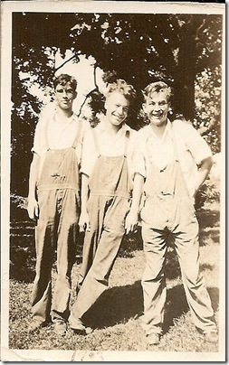 Uncle Bob, Al and Uncle Jim 1931