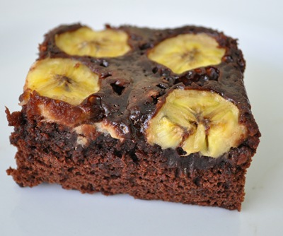 Chocolate Banana Brownies adapted from Cooks.com