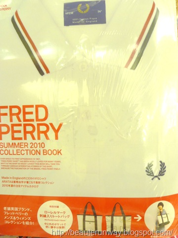 Receive a FRED PERRY TOTE BAG with purchase of Fred Perry 2010 Summer