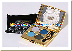 ed pinaud eyeshadow blue black palette beauterunway