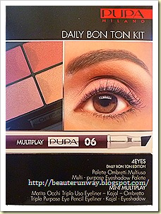 Pupa 4 eyes kit daily bon ton beaute runway
