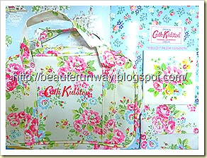 cath kidston carry case, mirror and tissue case
