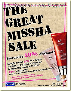 The Great Missha Sale - Beaute Runway