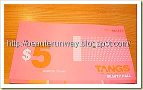 Tangs $5 beauty voucher
