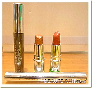 The Body Shop Colorglide Lips, Lightening Touch and Divide & Multiply Mascara