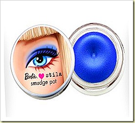 stila loves barbie cobalt clutch