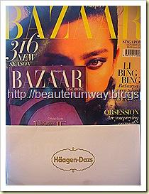 Harper's Bazzar Haagen Dazs Golden Spoon and Voucher