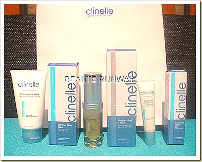 Clinelle Blemish Clear Mask, Brightening Serum and Black head control gel