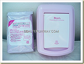 BioreCleansing Oil Facial Cotton Sheets and storage box