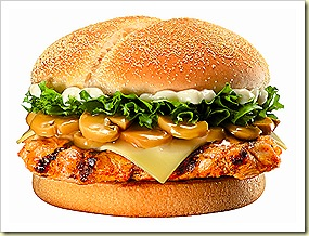 Burger King Mushroom Swiss Tendergrill