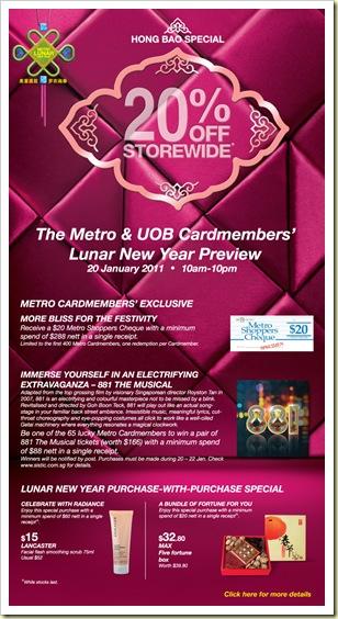 UOB Metro Spring 2011 20% Jan
