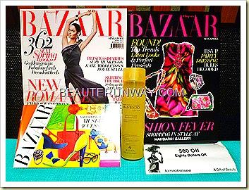 Harpers Bazaar Alterna bamboo shampoo anti-frizz smooth hair Kinokuniya