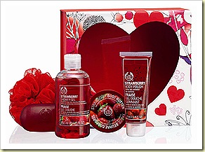 The Body Shop Strawberry Shower Scrub and Soften Collection