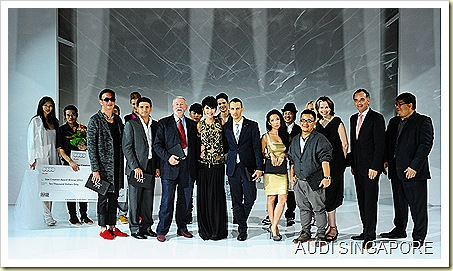Star Creation Winners 2011 and Judges at Audi Fashion Festival red carpert gala night