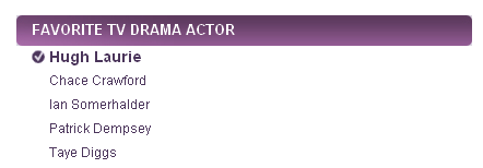 People's Choice Awards 2011 Nominees - best actor HughLaurie