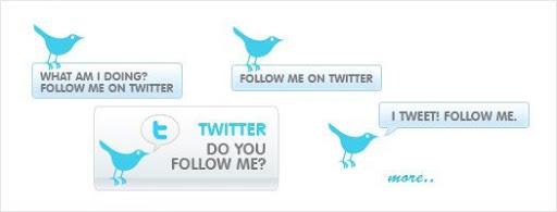 Free Twitter Bird Buttons