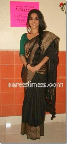vidya-balan-Green-Sari
