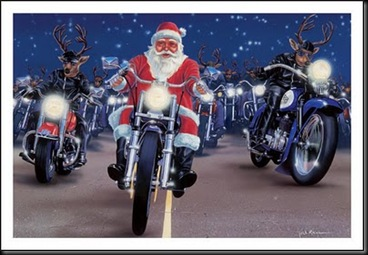 Biker Santa