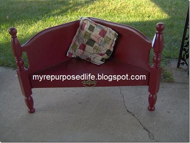 corner bench headboard