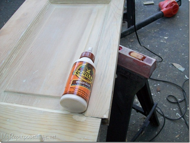 repairing a door with Gorilla Wood Glue