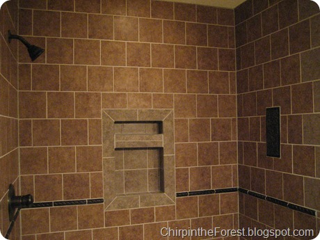 Shower tile w niche