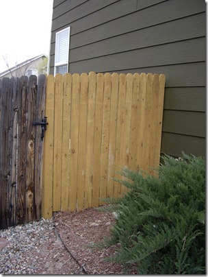 New fence panel