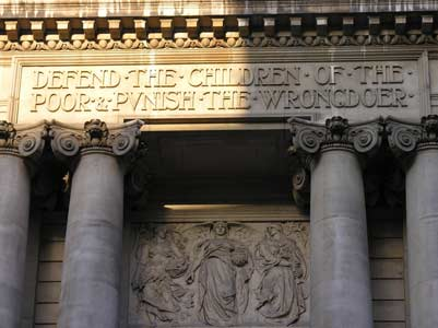 Old Bailey Courthouse Relief: Defend the Children of the Poor and Punish the Wrongdoer