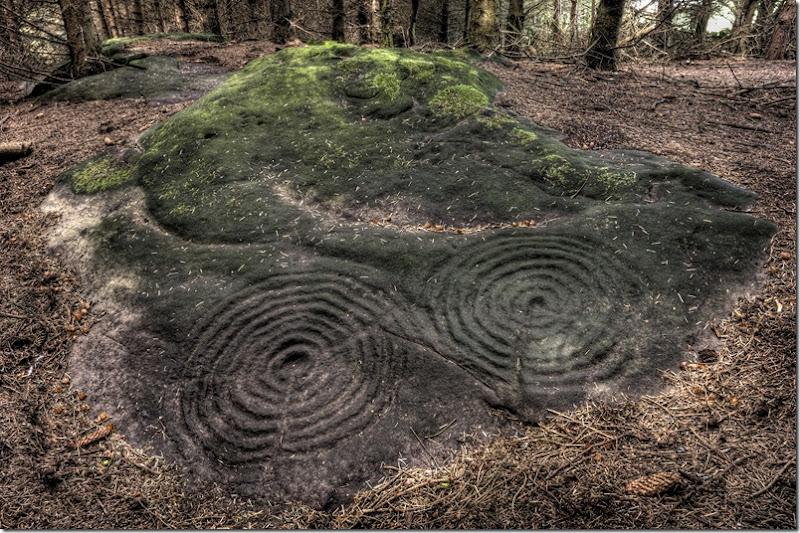 northumbrian rock art at Buttony