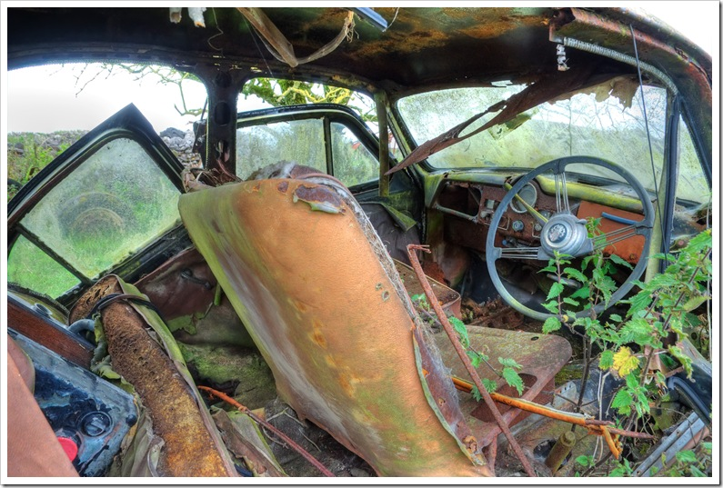 old austin rusting into the ground