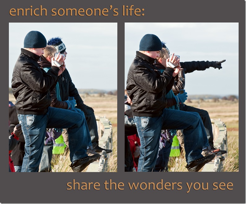 enrich someones life share the wonders you see copy